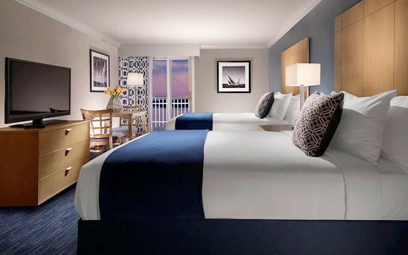 Two Queen Beds Partial Ocean View with Balcony at Nantasket Beach Resort, Massachusetts